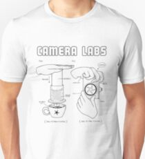 Cameralabs Photography and Coffee (Black artwork) Unisex T-Shirt