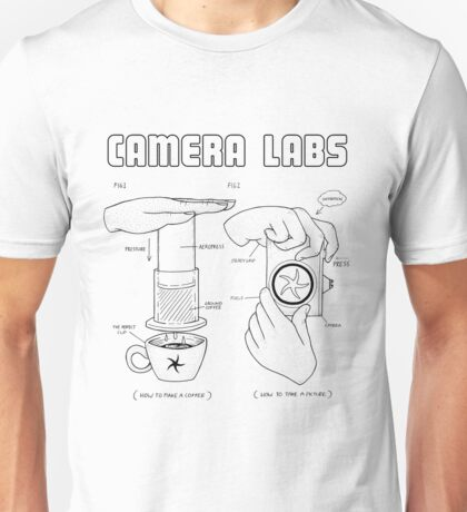Cameralabs Photography and Coffee (Black artwork) T-Shirt