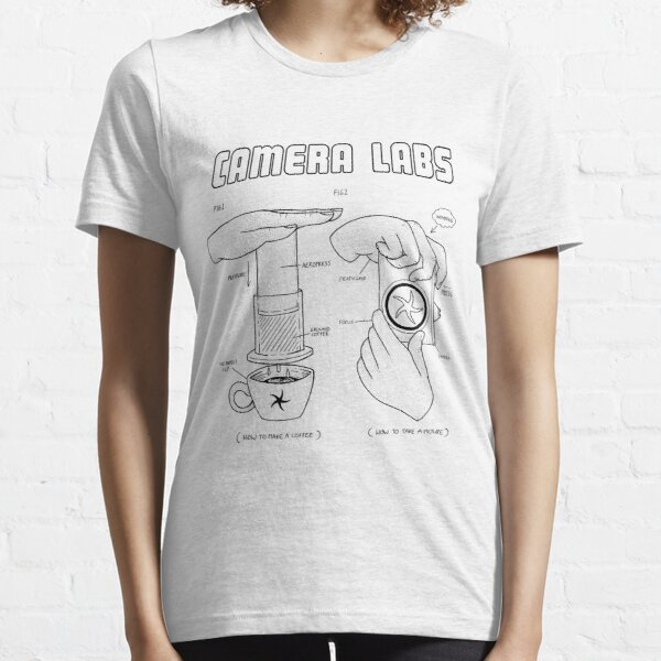 Cameralabs Photography and Coffee (Black artwork) Essential T-Shirt