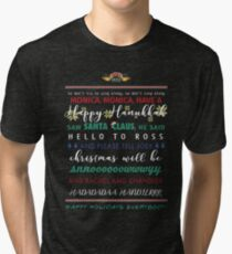 Friends The TV Show Holiday Song T-Shirt by Last Petal Tees Tri-blend T-Shirt