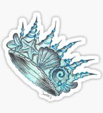 Underwater Seashell Crown Sticker