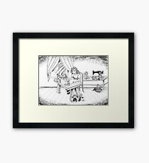 Alfred Talks To Tammy Framed Print