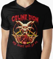 My Heart Will Go on Metal Shirt Men's V-Neck T-Shirt