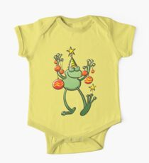 Christmas Decorations for a Frog One Piece - Short Sleeve