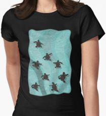 Loggerhead Sea Turtle Hatchlings Womens Fitted T-Shirt