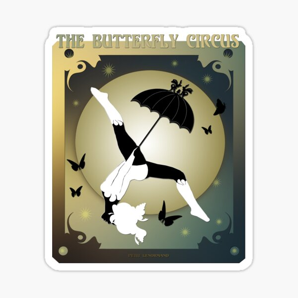 The Butterfly Circus - The Girl over the Moon Sticker