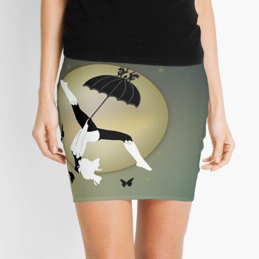 The Butterfly Circus - The Girl over the Moon Mini Skirt