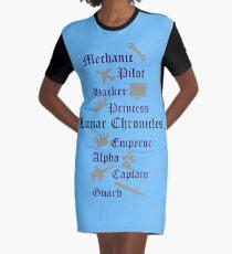 Lunar Chronik Zeichen T-Shirt Kleid