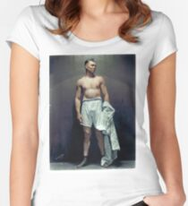 Jack Dempsey (colourised)  Women's Fitted Scoop T-Shirt