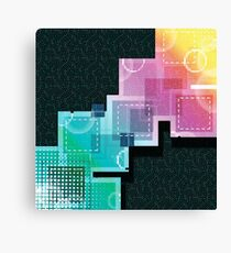 Abstract Tech Pattern Canvas Print