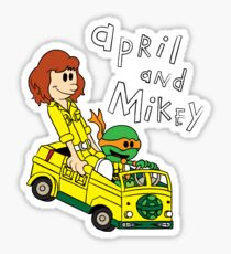 April and Mikey Sticker