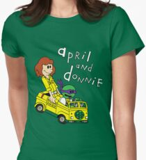 April and Donnie Women's Fitted T-Shirt