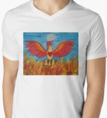 Born of Fire Mens V-Neck T-Shirt