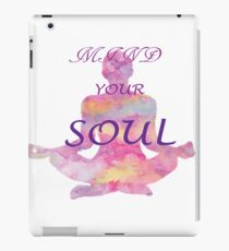 yoga, mind your soul iPad Case/Skin