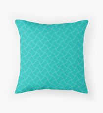 Tiffany Aqua Blue Wimbledon Tennis Ball Repeating Watery Ripple Pattern Throw Pillow