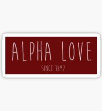 Alpha Love - Alpha Omicron Pi Sticker