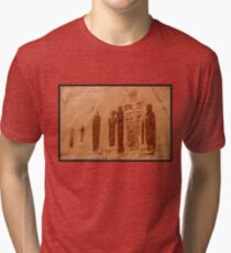Great Gallery Pictographs 4 - Canyonlands - Utah Tri-blend T-Shirt