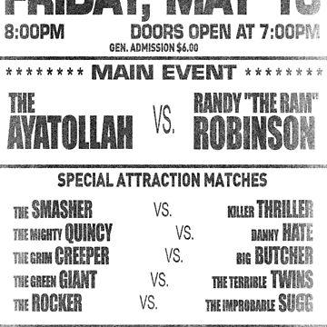"The Wrestler - Randy ""The Ram"" Flyer (Black) by Cinerama"