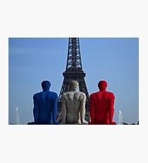 Tour Eiffel tricolore Photographic Print