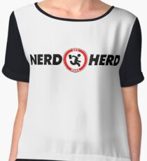 The Nerd Herd: Highest Vector Quality Graphic! - 2017 Edition Women's Chiffon Top