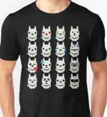 White German Shepherd Emoji Different Facial Expression T-Shirt