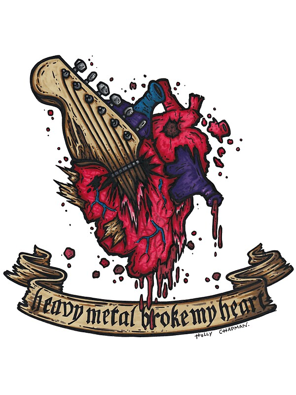 heavy metal broke my heart by holz toons - Broken Design Holzmobel