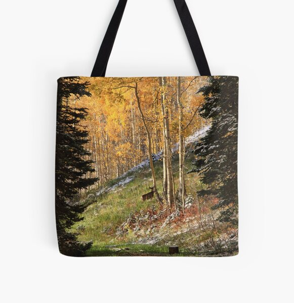 Autumn's Blessing Throw Pillow and Tote Bag All Over Print Tote Bag