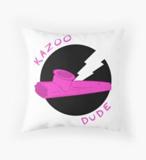 Kazoo Dude (Pink) Throw Pillow