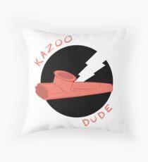 Kazoo Dude (Salmon) Throw Pillow