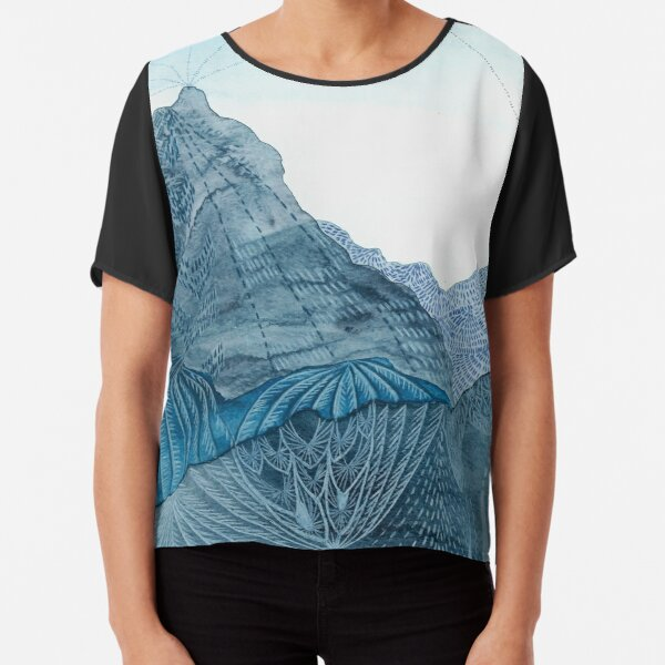 A Painting of a Landscape that Doesn't Exist Chiffon Top