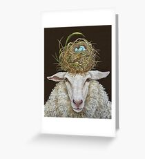 Judith the Sheep with nest Greeting Card