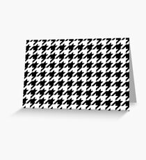 Houndstooth Pixel Pattern – Prints & Posters Greeting Card