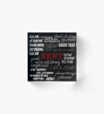 Memorial to Newt Acrylic Block