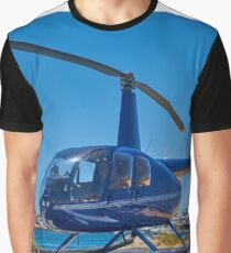 Blue Helicopter Robinson R44 Graphic T-Shirt