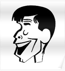 Jerry Lewis caricature Poster