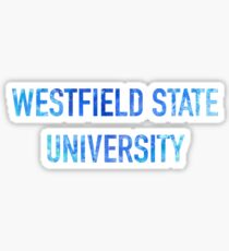 Watercolor Westfield State University Sticker