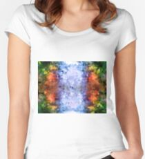 water reflection rain water puddle abstract, Women's Fitted Scoop T-Shirt