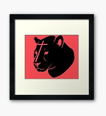 Murphy the Star Panther Framed Print