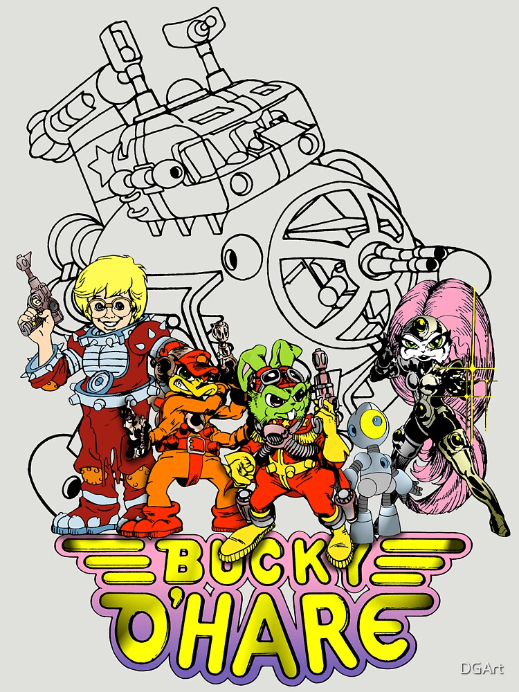 TShirtGifter presents: Bucky O'Hare - Logo - Group with Ship - Color | Unisex T-Shirt