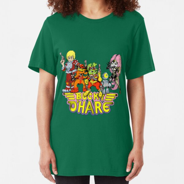 Bucky O'Hare - Group Logo - Color Slim Fit T-Shirt