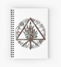 ANCIENT FIRE SYMBOL - aqua grunge ***find hidden gems in my portfolio*** Spiral Notebook