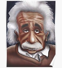 Albert Einstein Caricature Poster