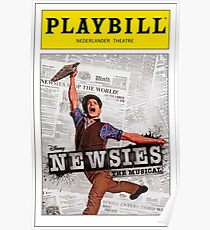 Colored Newsies Playbill Poster
