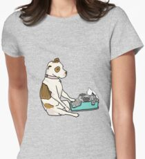 Part Wild Pup at Work Womens Fitted T-Shirt