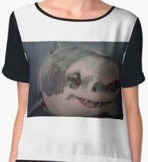 WHITE DEATH...GREAT WHITE SHARK Chiffon Top