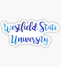 Westfield State University Watercolor Sticker