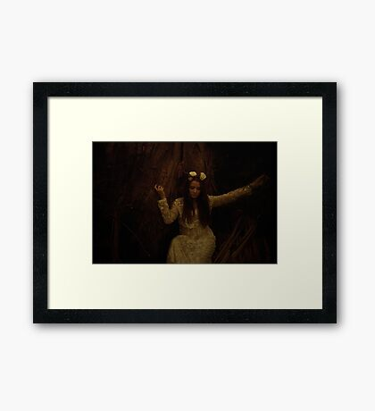 Melancholy Wild Child Framed Print