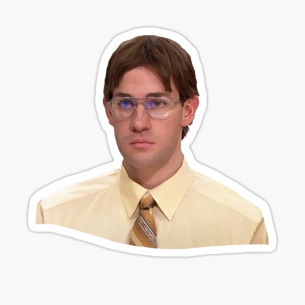 Jim as Dwight Sticker