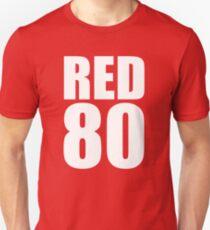 Colin Kaepernick - RED 80 - White text Unisex T-Shirt