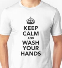 Keep Calm and Wash Your Hands - Black T-Shirt